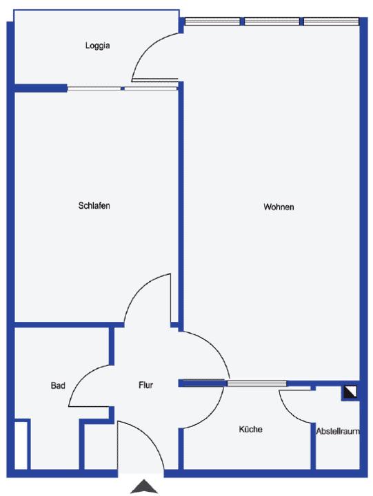 Grundsiss 2-Zimmer Wohnung Hamburg Eppendorf