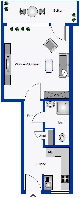 Grundriss Scharpenmoor 67 Appartment
