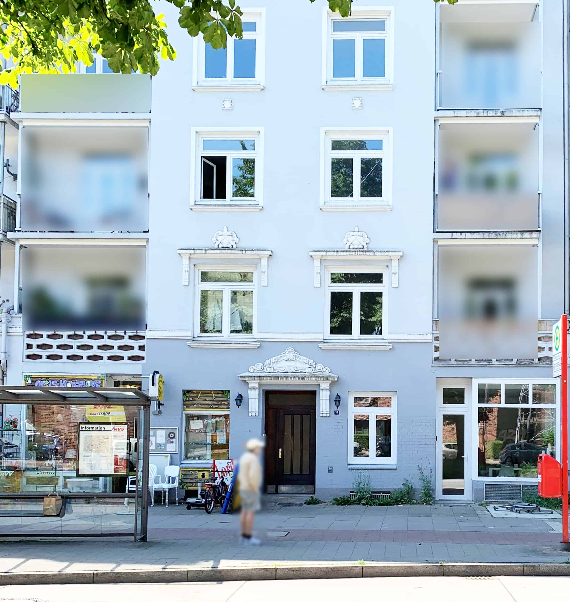 Außenansicht-Haus 3 Zimmer Wohnung in Hamburg Winterhude - ohne Makler