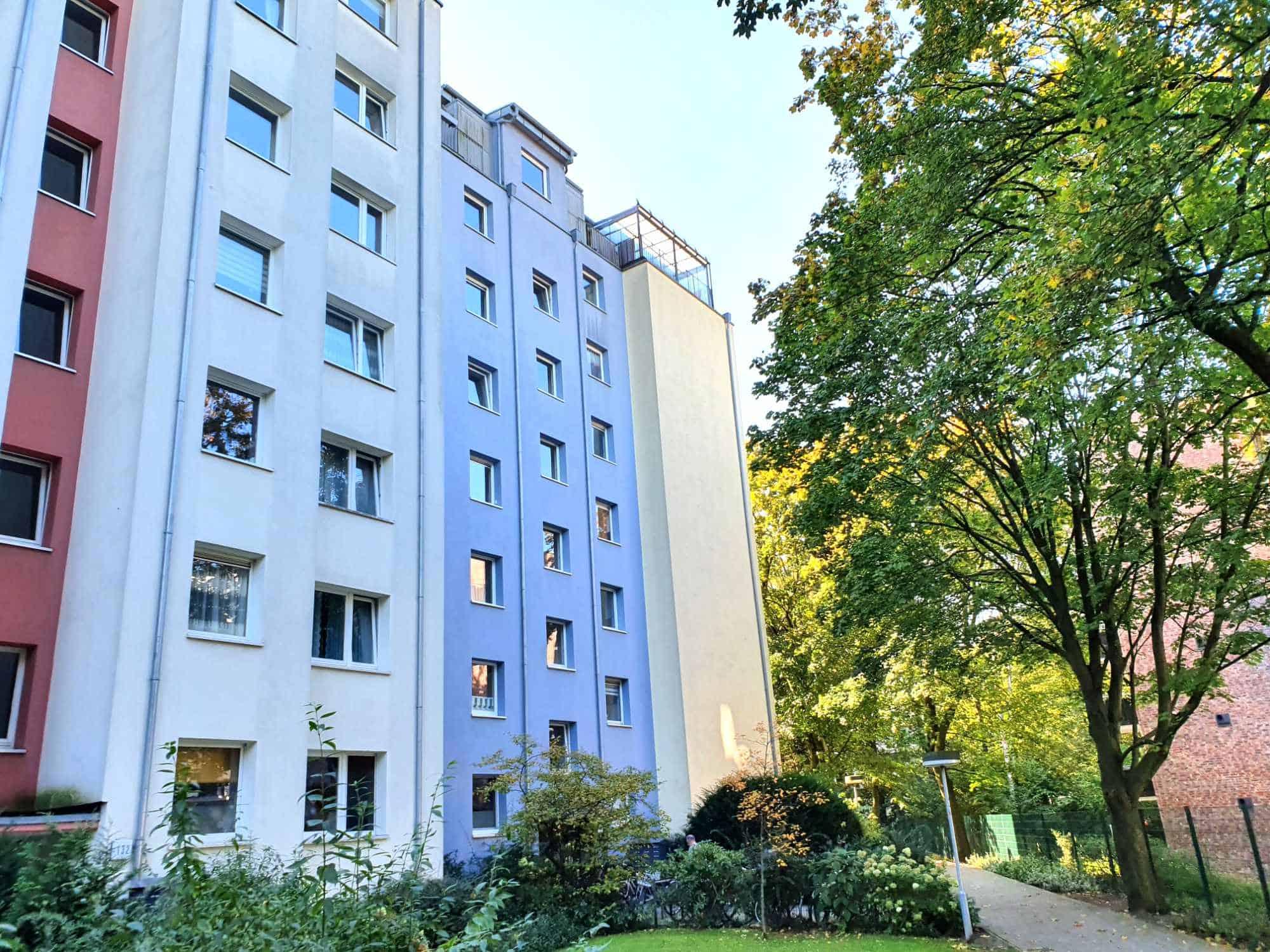 Provisionsfrei: 1 Zimmer Wohnung nahe UKE, Außenansicht