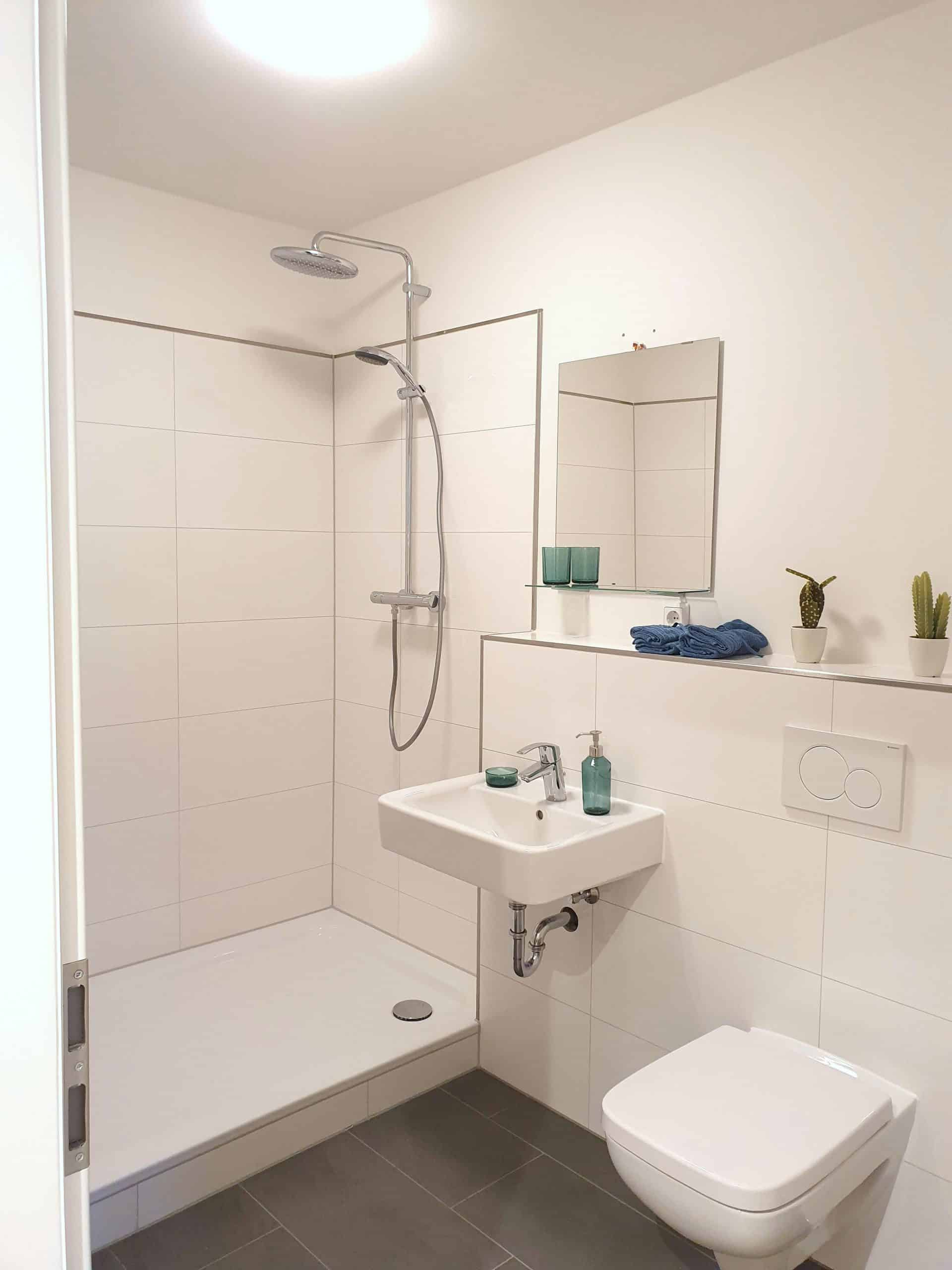 Provisionsfrei: 1 Zimmer Wohnung nahe UKE, Badezimmer